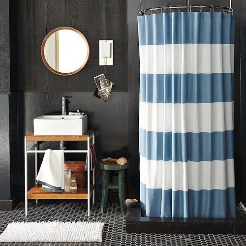Тканевые шторки для ванной