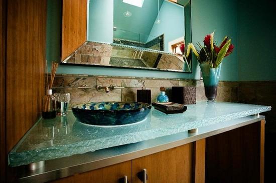 Столешницы для кухни из стекла