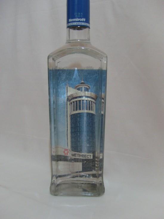 Декупаж бутылок к Новому году