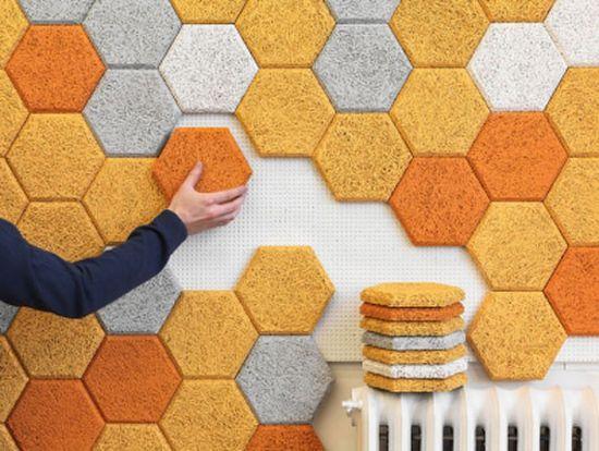 Декоративные стеновые панели - древесная шерсть