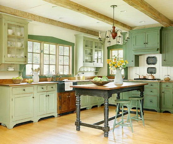 Кухни в деревенском стиле кантри