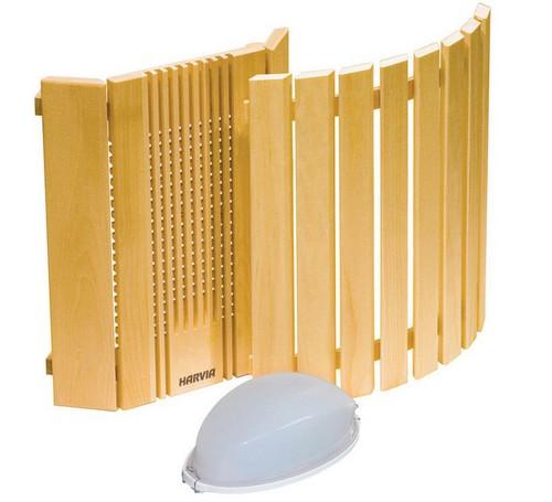 Светильник с деревянным абажуром - аксессуары для бани и сауны