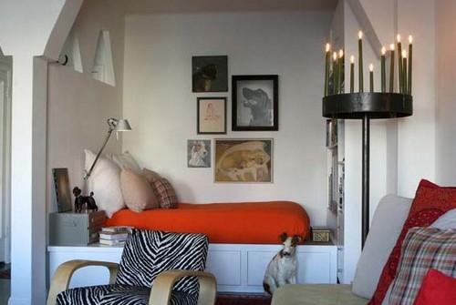 Обустройство зоны отдыха в однокомнатной квартире с нишей