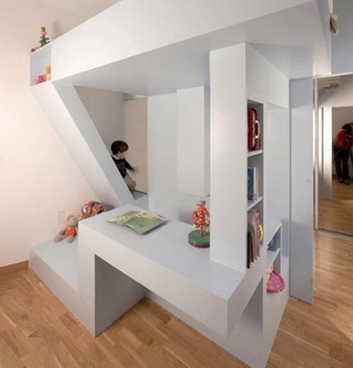 Дизайн однокомнатной квартиры с нишей - детская в нише