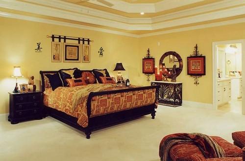 Спальня в восточном стиле фото