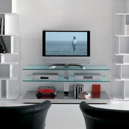 Стеклянные полки под телевизор