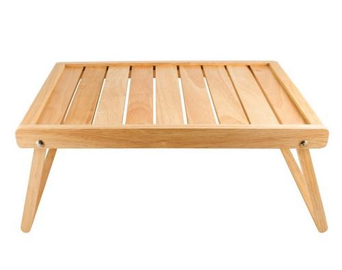 Деревянный столик для завтрака в постель