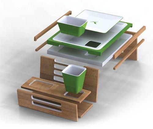 Столик-подставка в постель от дизайнера John Whaley
