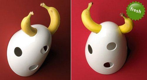 Оригинальная фруктовница для бананов