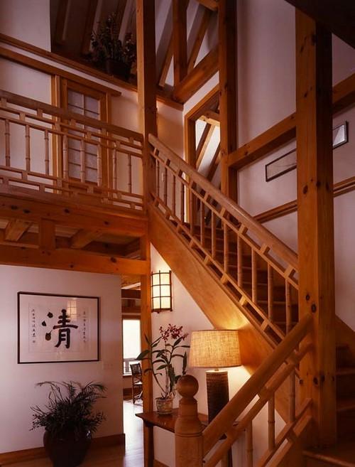 Интерьер двухэтажного каркасного дома