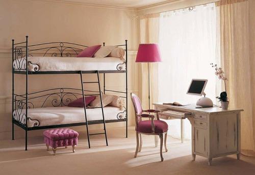 кованые детские двухъярусные кровати