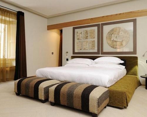 Романский стиль в интерьере спальни