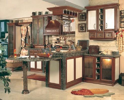 Романский стиль в интерьере кухни