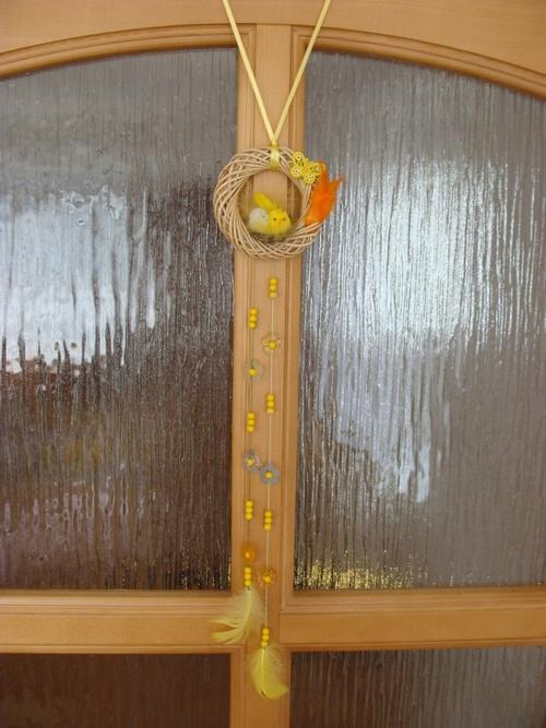 Пасхальный венок на дверь