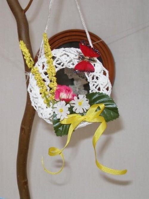 пасхальные украшения вязанные крючком