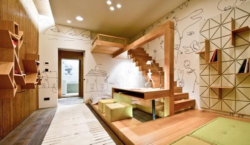 Подиум в интерьере детской комнаты