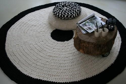 вязаные коврики круглые