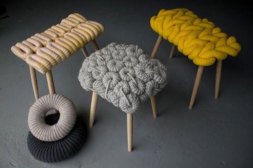 Вязаные сиденья для табуреток