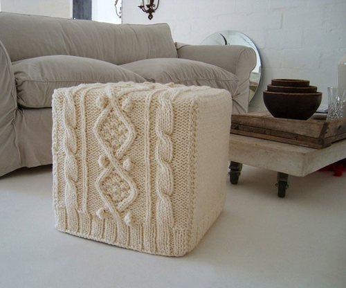 Вязаные чехлы на мебель