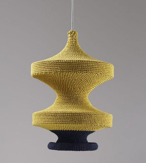 Вязаные лампы - декоративные чехлы вязаные для светильников