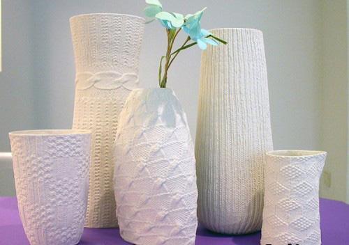 Вязаная ваза