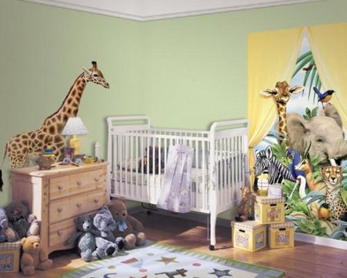 Африканские мотивы в интерьере детской комнаты