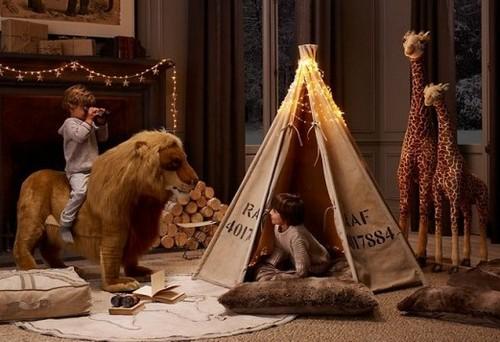 Африка в интерьере детской комнаты