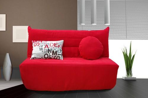 Мягкая банкетка-диван со спинкой