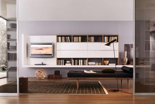 Стенка для гостиной с местом под телевизор
