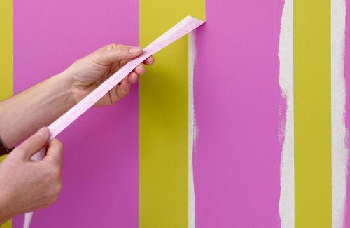 Как покрасить стены в полоску