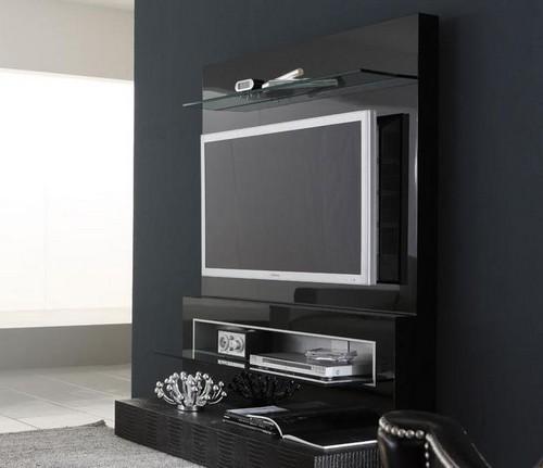Тумба под телевизор со стеклом
