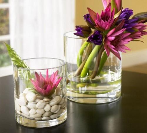 Свежие цветы в весеннем интерьере