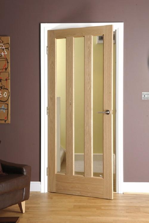 Межкомнатные двери деревянные со стеклом