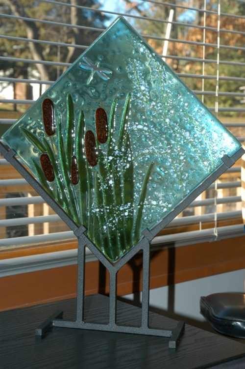 Фьюзинг стекла - декор