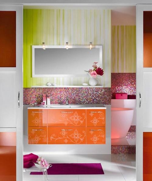 Сочетание цветов в интерьере ванной