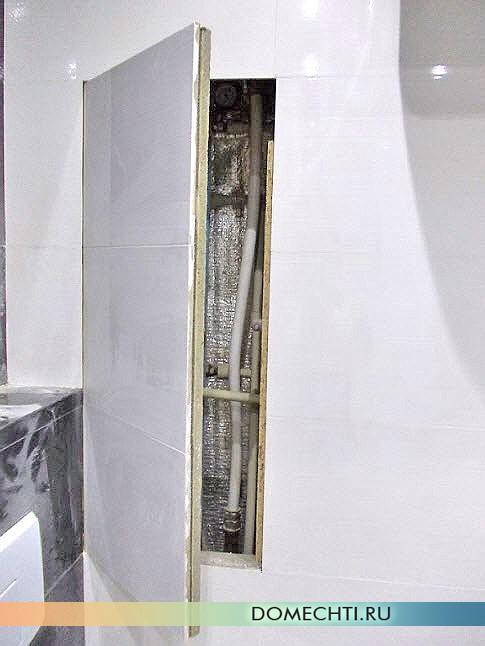 Сантехнический ревизионный люк невидимка