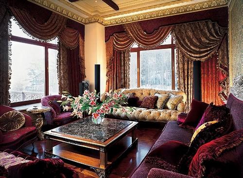 Текстиль в интерьере барокко