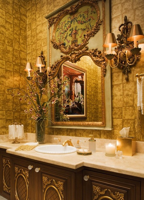 Дизайн интерьера ванной в стиле барокко