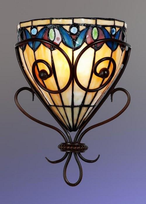 Настенные витражные лампы