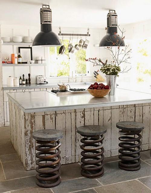 Барные стулья для кухни в экостиле