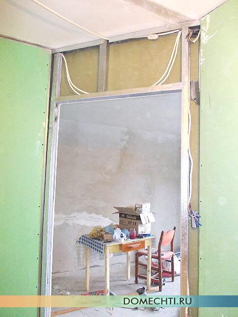 Установка межкомнатных перегородок из гипсокартона