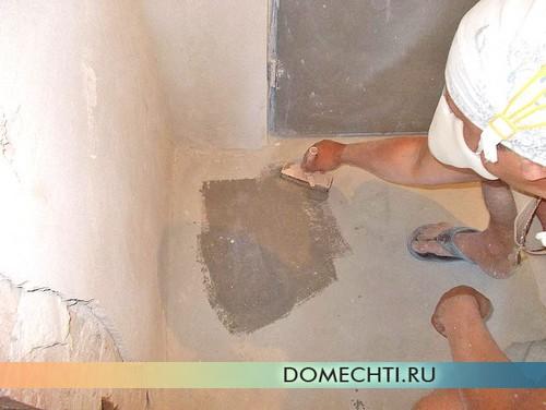 Подготовка бетонного пола под ламинат