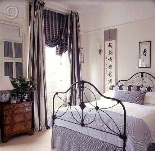 Оформление стен спальни в японском стиле