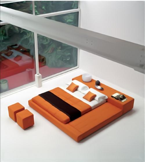 Кровать для спальни в японском стиле