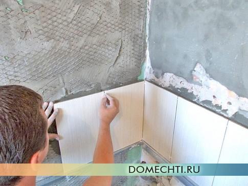 Укладка кафеля на стену своими руками
