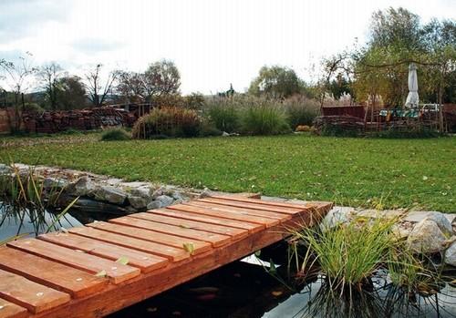 Деревянные мостики садовые без перил