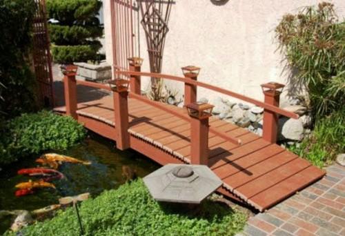 Деревянные мостики для дачи фото