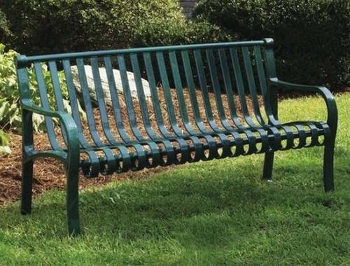Металлическая скамейка для дачи