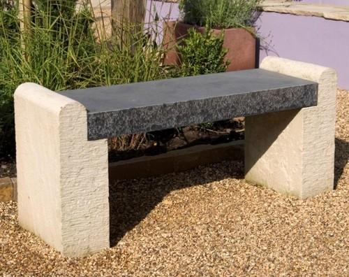 Каменные скамейки без спинки