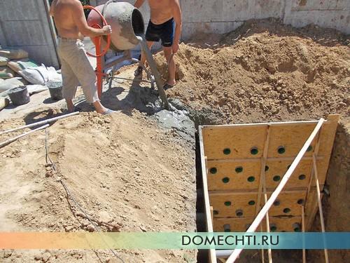 Строительство бетонного септика для частного дома своими руками